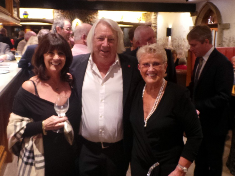 Tony and Jan McHale with Janet Simpson, owner of the Gibbon Bridge Hotel.