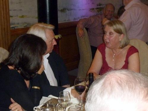 Frances Seth of Preston branch talking with Tony McHale