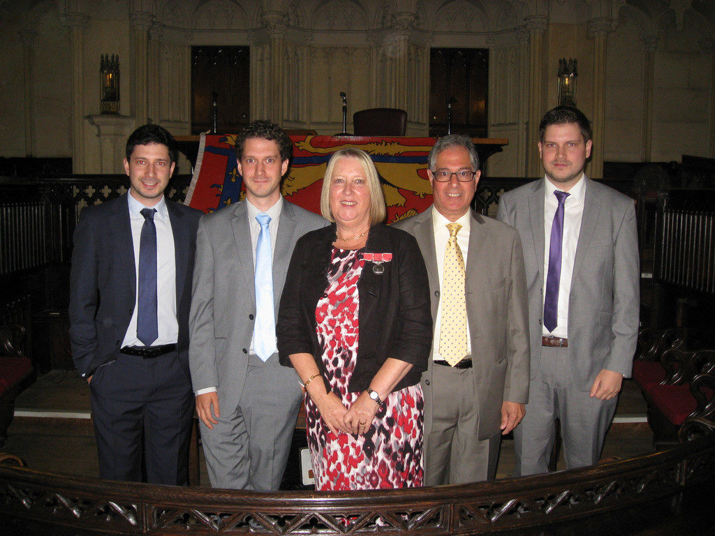 Frances pictured with her family at the award ceremony